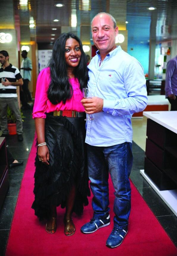 Yetty Ogunubi with a friend