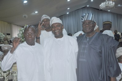 Adams Oshiomhole, Aliko Dangote and Senator Domingo Obende