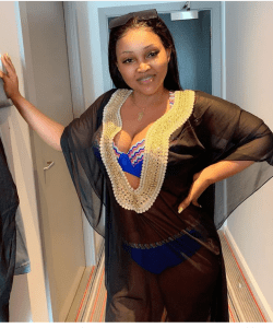 Mercy Aigbe teases fans with sexy bikini photos