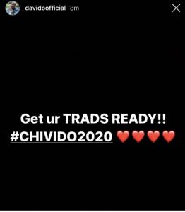 Davido announces wedding date to Chioma (Details)