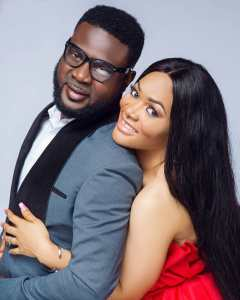 Lanre Makun and wife