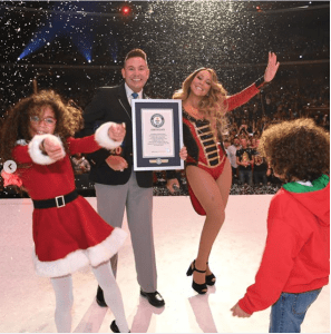Mariah Carey breaks three Guinness world records