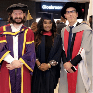 Victoria Iyala bags degree from University of East London