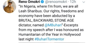 Tweet from Reno Omokri