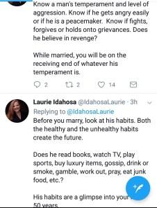 Laurie Idahosa advises single ladies