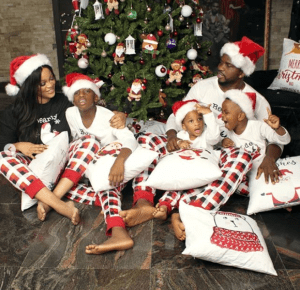 Beautiful Christmas card photos of some celebrity families