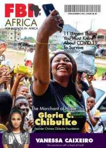 Philanthropist Chinwe Chibuike Covers FBI Africa Magazine, Raises Awareness On Coronavirus Prevention