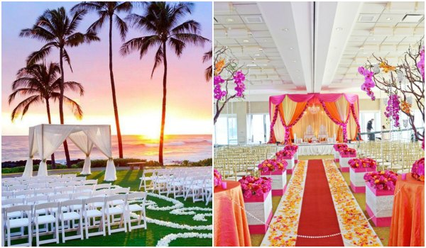 Fantastic Indoor And Outdoor Wedding Ceremony Decorating