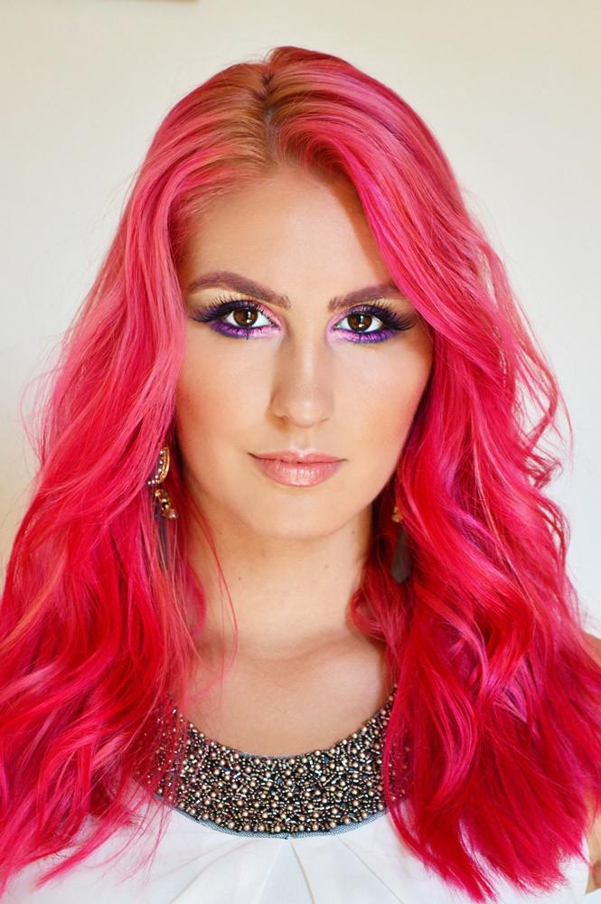 Pink-Hair-Makeup-Look