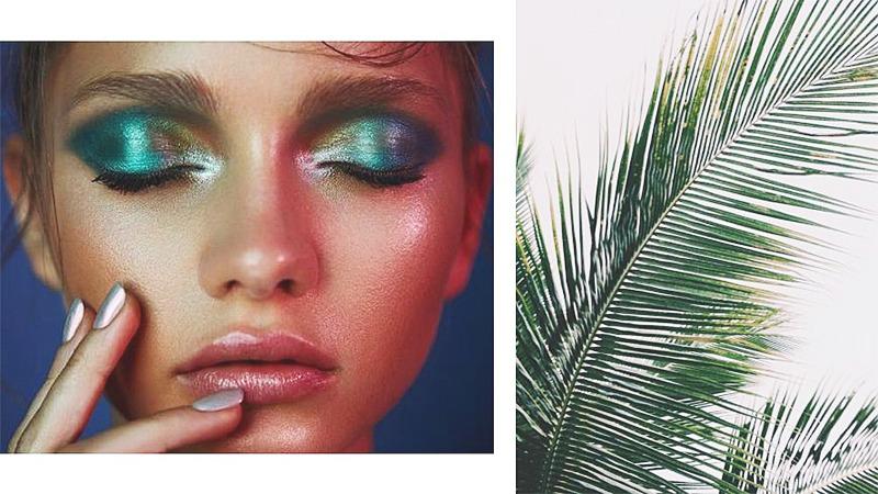 greenery makeup look