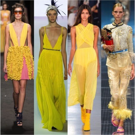 yellow fashion trends 2017