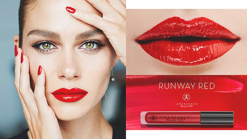 red lips makeup trend
