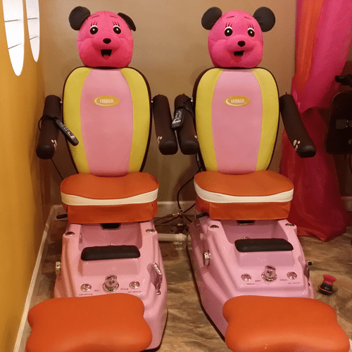 child pedicure chair office mesh kid s nail salon services allure nails spa ballantyne kids pedicures