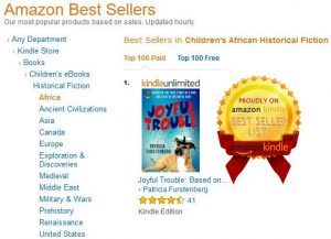 Joyful Trouble, Amazon Bestseller in eBook and paperback format