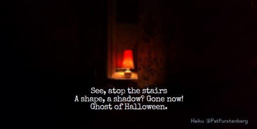 Stairs Ghost, Halloween Haiku
