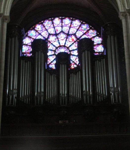 Notre Dame Cathedral Pipe Organs and West Rose window - photo by Lysandra Furstenberg