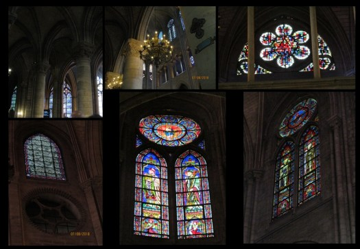 Notre Dame Cathedral stained glass windows  - photo by Lysandra Furstenberg
