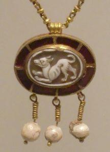 A Roman cameo of a dog - source Wikimedia
