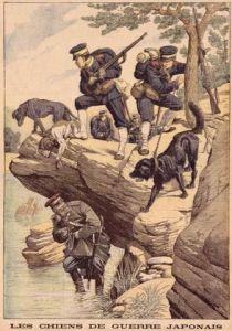 Dogs helping during the Russo-Japanese War