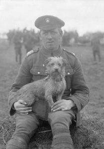 Sammy, mascot of the Northumberland Fusiliers WW1