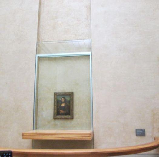 Mona Lisa. La Joconda. La Gioconda, Denon Wing, room 711, Louvre Museum, fastest route