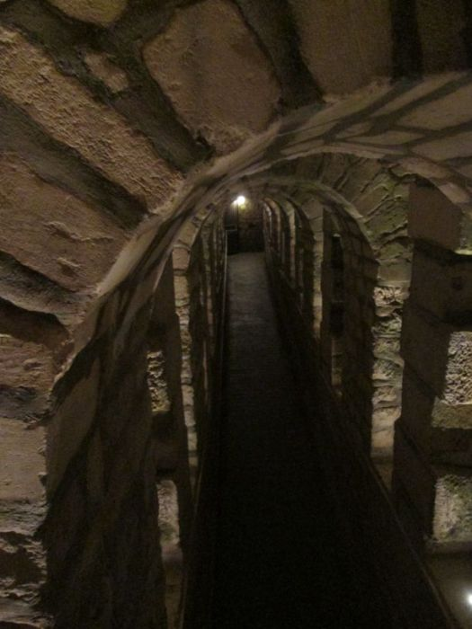 The Catacombs of Paris, an underground labyrinth. No turning back now.