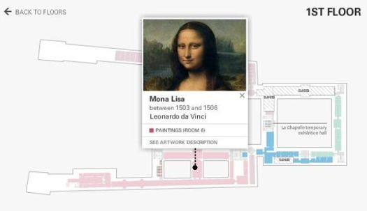 where to find Mona Lisa in the Louvre
