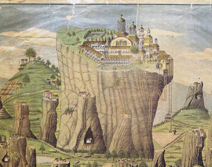 Romanian folktales - cryptic location, White Monastery