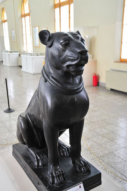 a dog statue of Ancient Persia, Iran National Museum