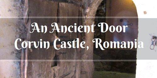 ancient door, Corvin Castle, Romania