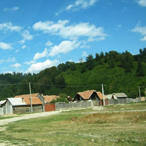 a remote village on our way to Bran castle, Transylvania, Romania