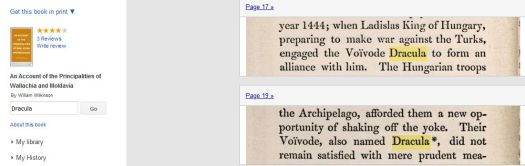 William Wilkinson, 1820, An Account of the Principalities Wallachia and Moldavia - where Voivode Dracula is mentioned - a book on which Bram Stoker referenced his Dracula novel