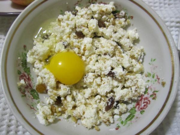 смесь с яйцом