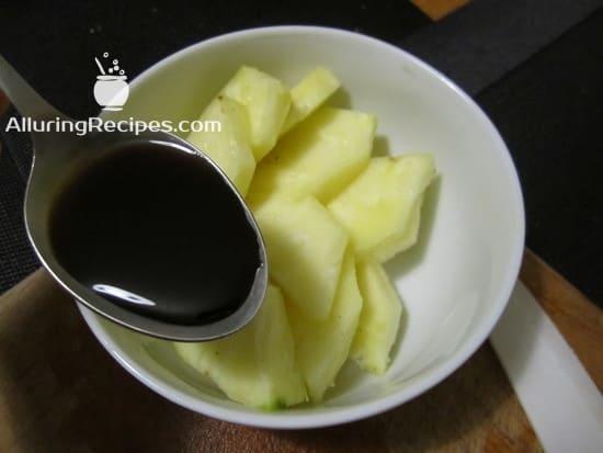 ананас, маринуем в соевом соусе - alluringrecipes.com