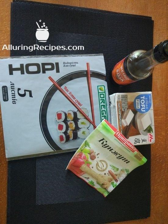 Ингредиенты к рецепту Жареный Тофу