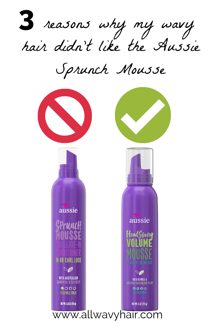 critical review aussie sprunch mousse   all wavy hair
