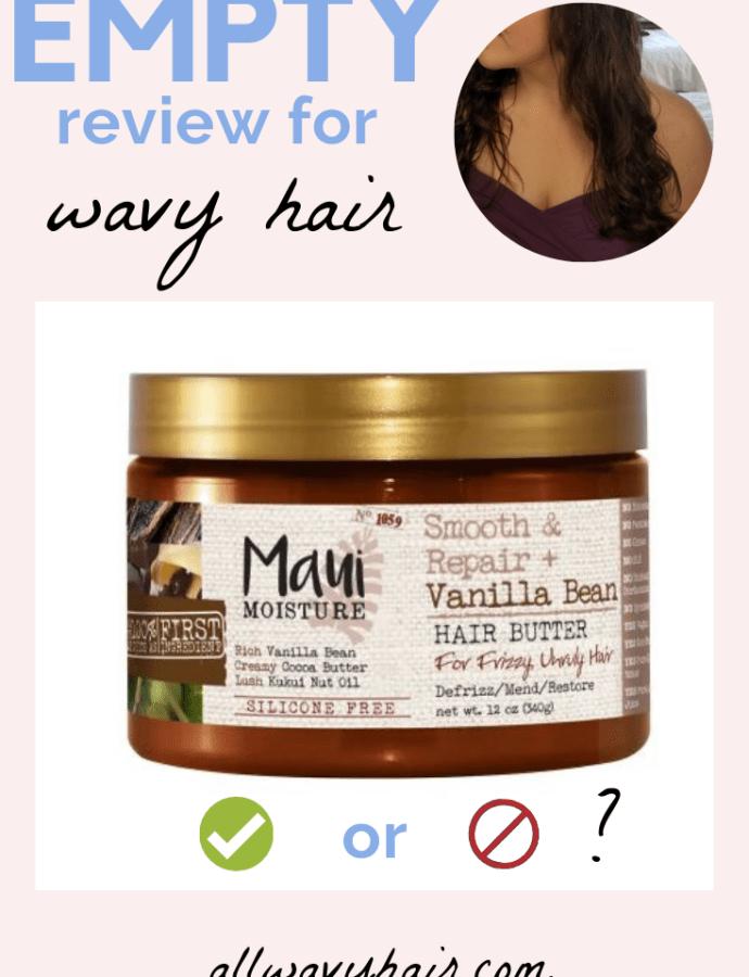 EMPTY Review: Maui Moisture Vanilla Bean Hair Butter (Maui Moisture Hair Mask Review)