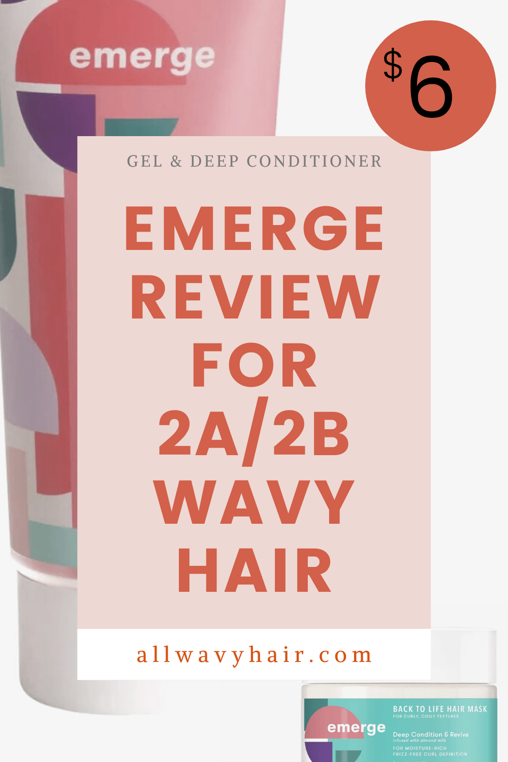 Emerge Hair For Wavy Hair First Impression Review Emerge Style Goals Gel Emerge Back To Life Conditioning And Revive Hair Mask Review For Wavy Hair All Wavy Hair