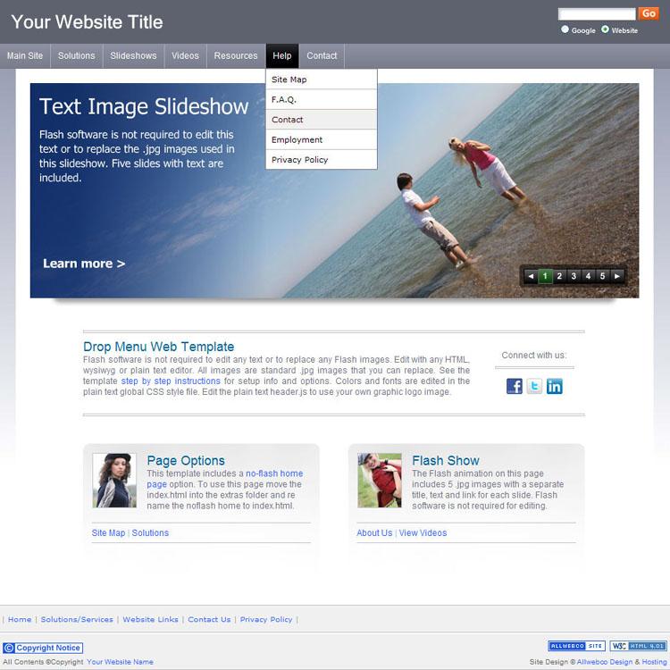 business websites template sample