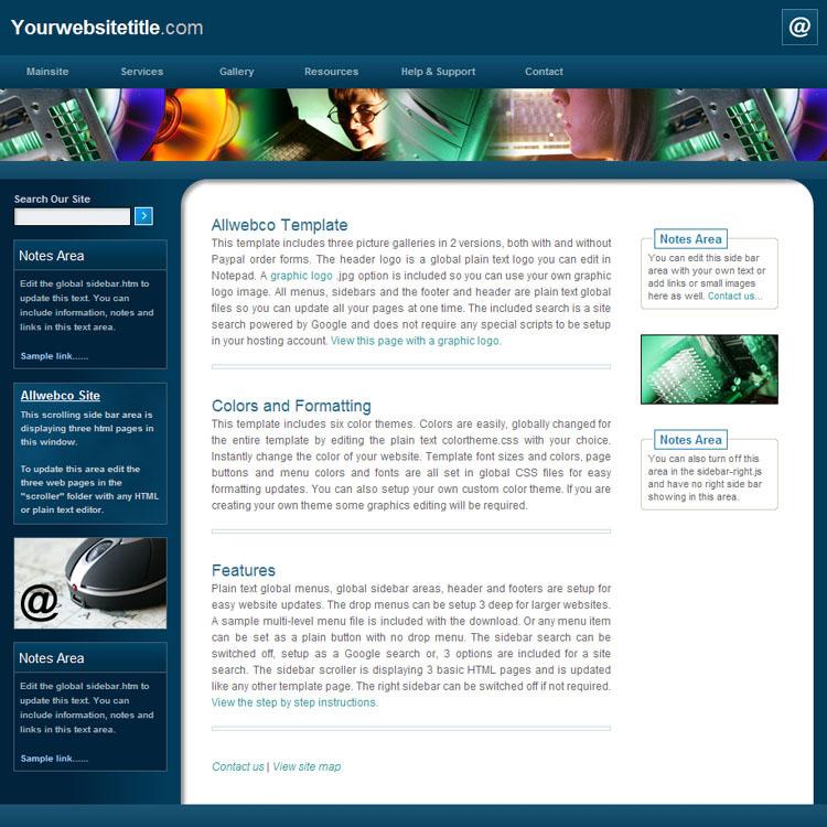 website templates allwebco exec