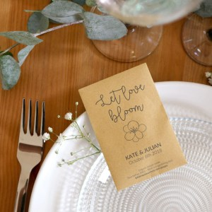 Let love bloom seed packet
