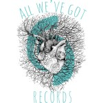 All We've Got Heart Shirt - Blue and Black on White - Design in part by Izzy Burgwin