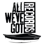 All We've Got Records Logo T-Shirt Black on White