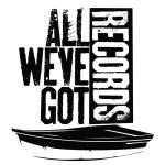 All We've Got Records Logo T-Shirt Black on White
