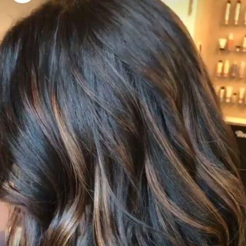 50 Intense Dark Hair With Caramel Highlights Ideas All Women