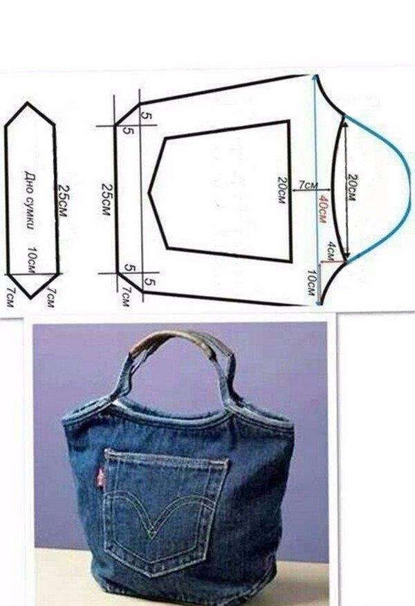 сумки из джинсов своими руками выкройки фото сайте