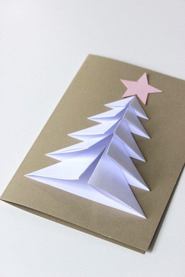 Рождественские открытки своими руками из картона