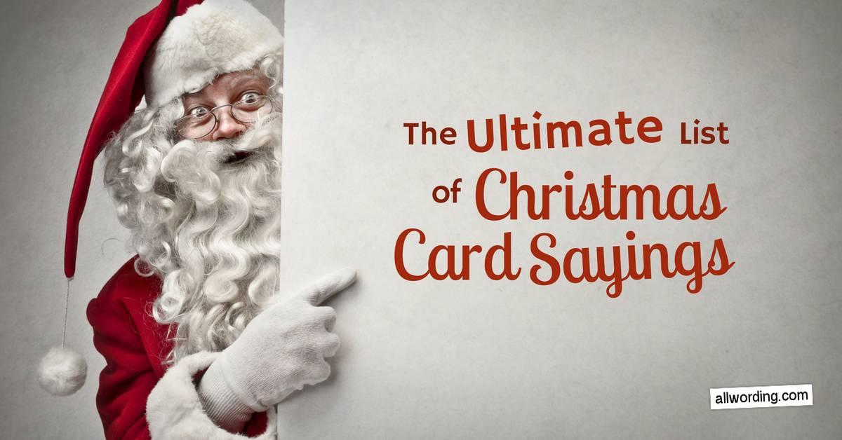 The Ultimate List Of Christmas Card Sayings