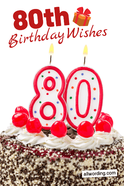 80th Birthday Greetings Images : birthday, greetings, images, Happy, Birthday!, B-Day, Wishes, Octogenarians, AllWording.com