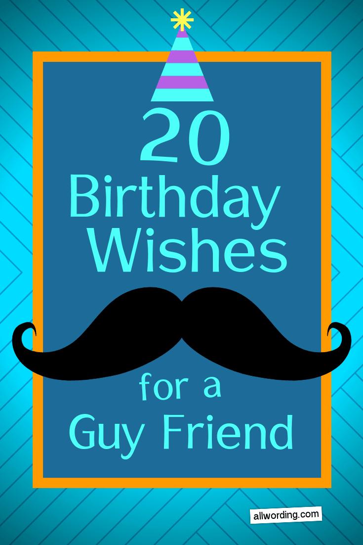 Happy Birthday Guy Friend Images : happy, birthday, friend, images, Happy, Birthday, Friend, AllWording.com